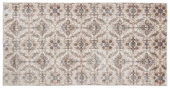 Vintage  Kilim Rug Retro Small Size 3'9'' X 7'3'' Ft   kilim rug, moroccan rug, beni ourain, rag rug, tapis kilim, vintage