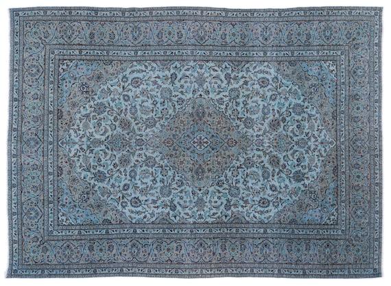 Blue  9'8'' X 13'3'' Ft Persian Handwoven Kilim Rug
