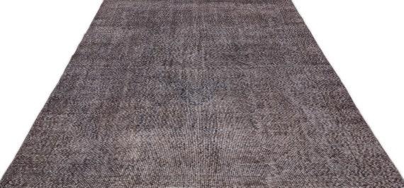 Gray 6'7'' X 10'2'' Ft Vintage Kilim Rug, Turkish Rug, Area Rug, Moroccan Rug, Boucherouite Rug, Persian Rug, Berber Rug, Wool Rug, Boho