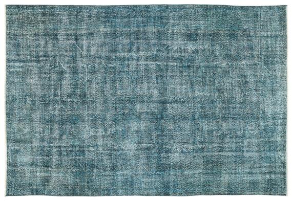 Turquoise 6'11'' X 10'0'' Ft Vintage Kilim Rug, turkish area rug, home decor rug, aztec rug, pale color rug, nomadic rug, hall rug,