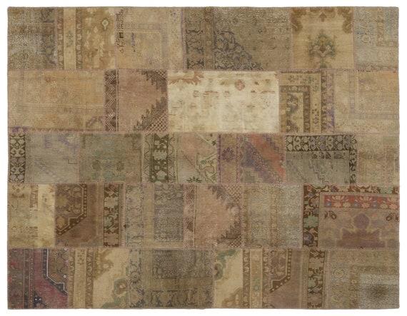 Anatolia 7'6'' X 9'8'' Ft Patchwork Unique Kilim Rug turkish rug, area rug, moroccan rug, boucherouite rug, persian rug, berber rug