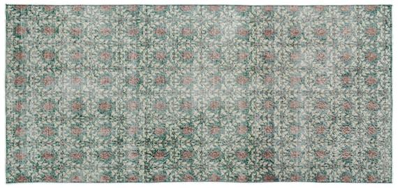 Vintage  Kilim Rug Retro Small Size 3'10'' X 8'2'' Ft   kilim rug, moroccan rug, beni ourain, rag rug, tapis kilim, vintage