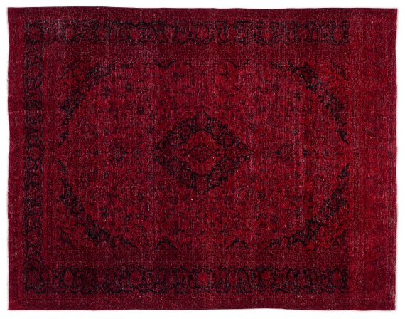 Red  9'10'' X 12'9'' Ft Persian Handwoven Kilim Rug