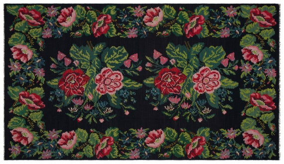 Kilim  Rug  Karabakh Large Size 6'4'' X 10'11'' Ft   kilim rug, moroccan rug, beni ourain, rag rug, tapis kilim, vintage