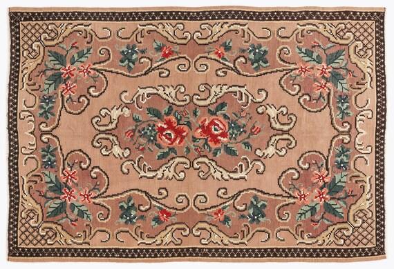 Kilim  Rug  Karabakh Large Size 5'11'' X 8'9'' Ft   kilim rug, moroccan rug, beni ourain, rag rug, tapis kilim, vintage