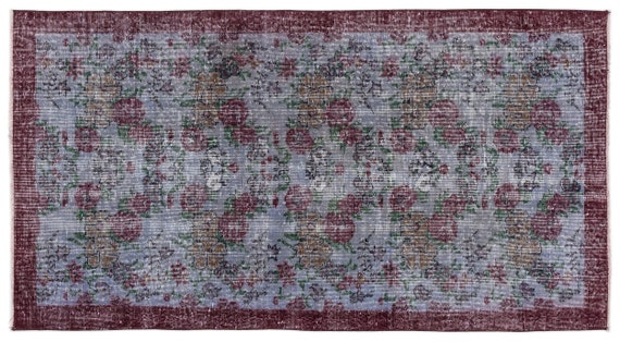 Vintage  Kilim Rug Retro Small Size 3'7'' X 6'8'' Ft   kilim rug, moroccan rug, beni ourain, rag rug, tapis kilim, vintage