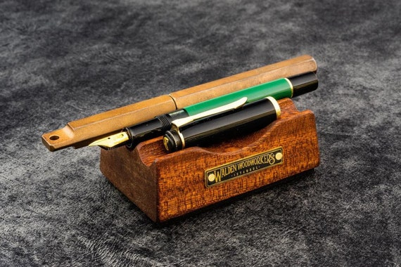 GL The Pen Rest Wooden Pen And Brush Stand - Mahogany