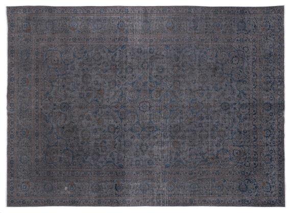 Persian  Kilim Rug Gray Oversized 9'9'' X 13'1'' Ft   kilim rug, moroccan rug, beni ourain, rag rug, tapis kilim, vintage