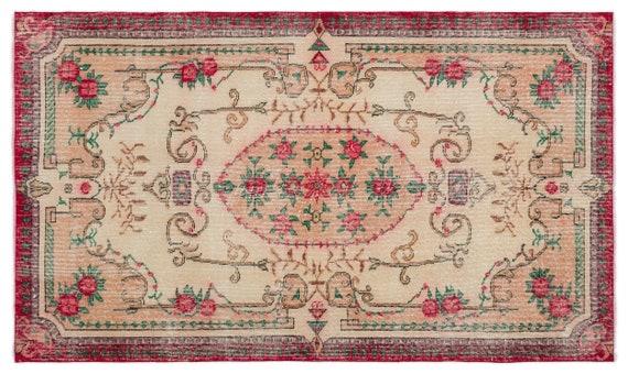 Vintage  Kilim Rug Retro Small Size 3'10'' X 6'7'' Ft   kilim rug, moroccan rug, beni ourain, rag rug, tapis kilim, vintage