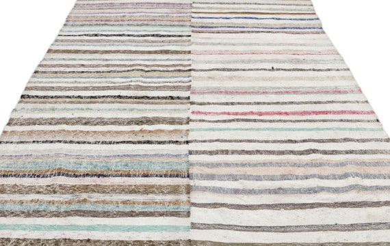 Chaput 6'3'' X 9'2'' Ft Kilim Rug , turkish rug, area rug, moroccan rug, boucherouite rug, persian rug, berber rug, wool rug