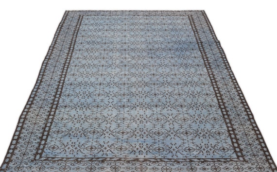 Blue 4'11'' X 8'9'' Ft Vintage Kilim Rug, Turkish Rug, Area Rug, Moroccan Rug, Boucherouite Rug, Persian Rug, Berber Rug, Wool Rug, Boho