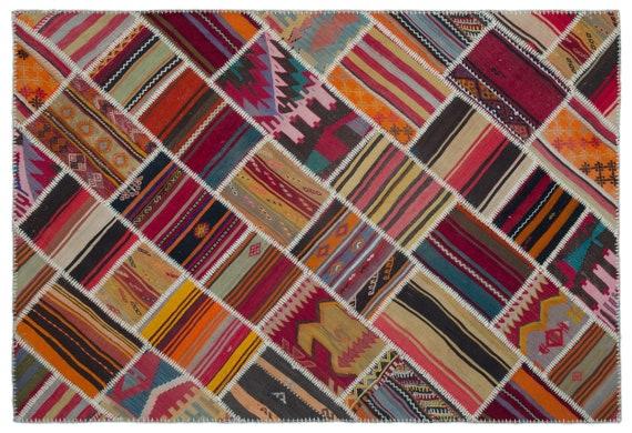 Naturel 5'2'' X 7'7'' Ft Kilim Patchwork Unique Rug