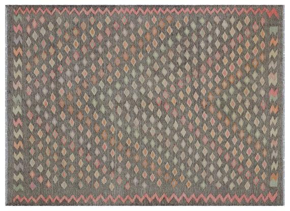 Kandahar  Kilim Rug Naturel Medium Size 4'6'' X 6'3'' FtTurkish Oushak Moroccan Rug