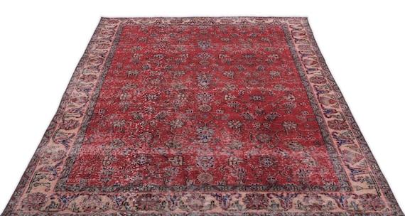 Natural 5'4'' X 8'4'' Ft Vintage Kilim Rug, Turkish Rug, Area Rug, Moroccan Rug, Boucherouite Rug, Persian Rug, Berber Rug, Wool Rug, Boho