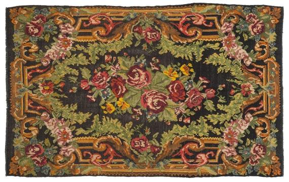 Karabakh 6'11'' X 11'6'' Ft Kilim Rug , turkish rug, area rug, moroccan rug, boucherouite rug, persian rug, berber rug, wool rug
