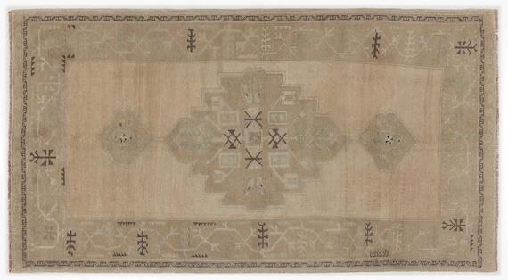 Heritage  Kilim Rug Beige Medium Size 4'6'' X 8'6'' FtTurkish Oushak Moroccan Rug