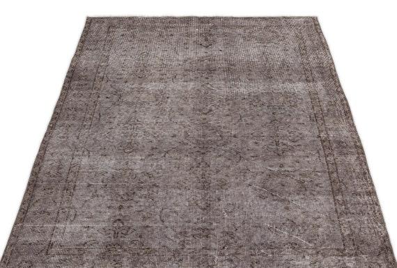 Gray 3'9'' X 6'11'' Ft Vintage Kilim Rug, Turkish Rug, Area Rug, Moroccan Rug, Boucherouite Rug, Persian Rug, Berber Rug, Wool Rug, Boho