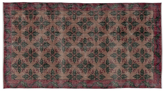 Vintage  Kilim Rug Retro Small Size 3'9'' X 6'12'' Ft   kilim rug, moroccan rug, beni ourain, rag rug, tapis kilim, vintage