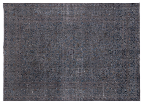 Gray  9'9'' X 13'1'' Ft Persian Handwoven Kilim Rug
