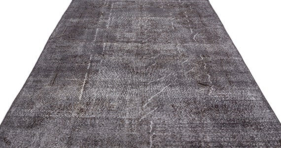 Gray 6'5'' X 10'6'' Ft Vintage Kilim Rug, Turkish Rug, Area Rug, Moroccan Rug, Boucherouite Rug, Persian Rug, Berber Rug, Wool Rug, Boho