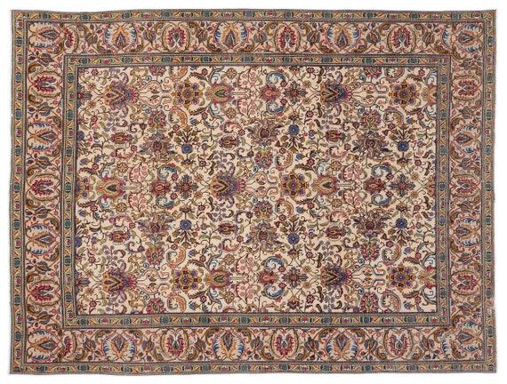 Naturel  9'6'' X 12'11'' Ft Persian Handwoven Kilim Rug