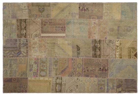 Anatolia 6'1'' X 8'12'' Ft Patchwork Unique Kilim Rug turkish rug, area rug, moroccan rug, boucherouite rug, persian rug, berber rug