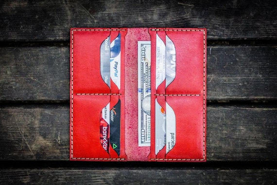 GL No.49 Red Personalized Handmade Unisex Long Wallet
