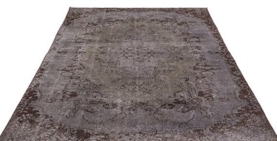 Gray 5'6'' X 9'1'' Ft Vintage Kilim Rug, Turkish Area Rug, Area Rug, Moroccan Rug, Boucherouite Rug, Persian Rug, Berber Rug, Wool Rug, Boho
