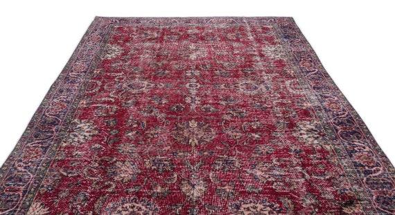 Natural 7'1'' X 10'8'' Ft Vintage Kilim Rug, Turkish Rug, Area Rug, Moroccan Rug, Boucherouite Rug, Persian Rug, Berber Rug, Wool Rug, Boho