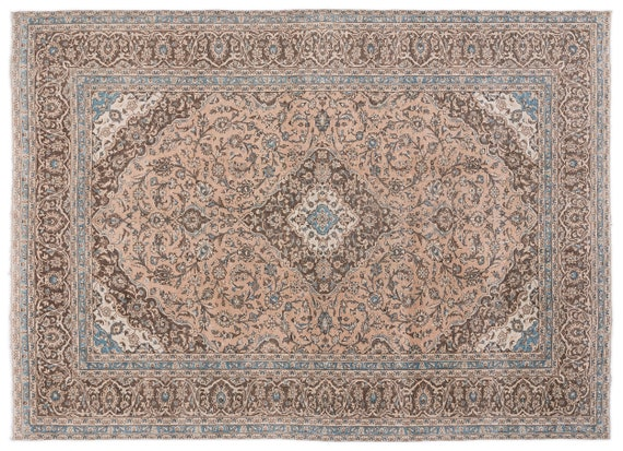 Beige  9'5'' X 12'12'' Ft Persian Handwoven Kilim Rug