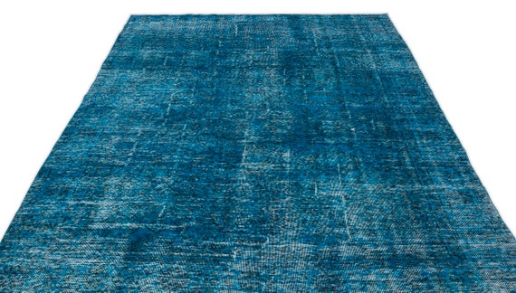 Turquoise 6'0'' X 9'12'' Ft Vintage Kilim Rug, turkish area rug, home decor rug, aztec rug, pale color rug, nomadic rug, hall rug,