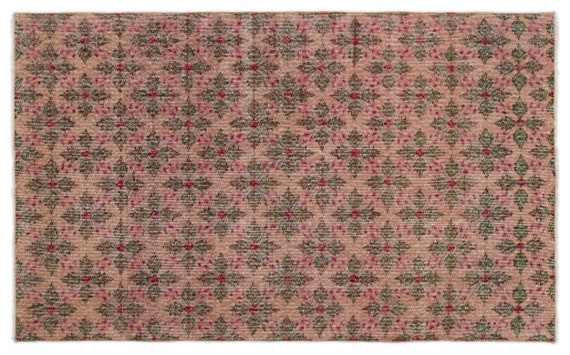 Vintage  Kilim Rug Retro Small Size 3'10'' X 6'4'' Ft   kilim rug, moroccan rug, beni ourain, rag rug, tapis kilim, vintage