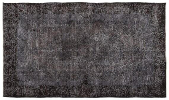 Gray 5'4'' X 8'12'' Ft Vintage Handwoven Kilim Rug