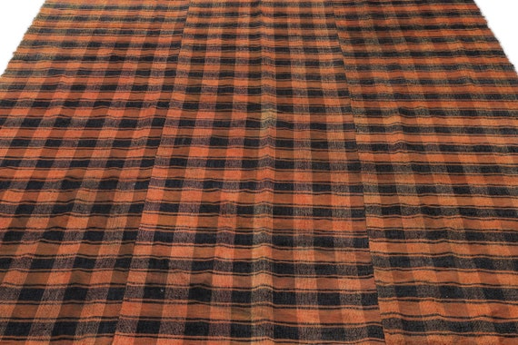 Chaput 6'11'' X 8'7'' Ft Kilim Rug , turkish rug, area rug, moroccan rug, boucherouite rug, persian rug, berber rug, wool rug
