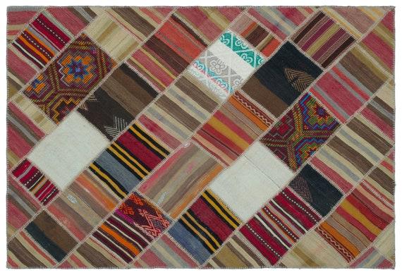 Naturel 5'2'' X 7'6'' Ft Kilim Patchwork Unique Rug