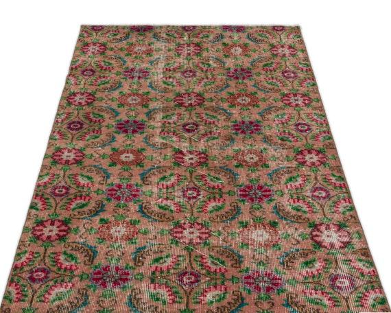 Natural 3'2'' X 5'4'' Ft Vintage Kilim Rug, Turkish Rug, Area Rug, Moroccan Rug, Boucherouite Rug, Persian Rug, Berber Rug, Wool Rug, Boho