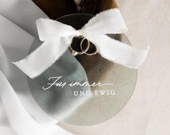 Ring Pillow Acrylic Wedding Ring Box