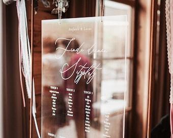 Sitzplan Hochzeit Acryl Schild