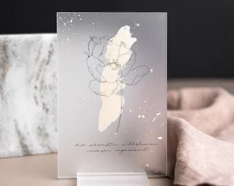 Saying Shield with Illustration and Gold Finishing, Gift Set