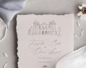 Wedding Location Drawing digitally personalized