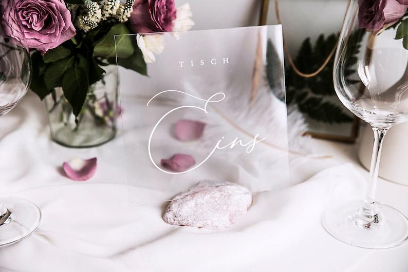 Acryl Tischnummer Hochzeit