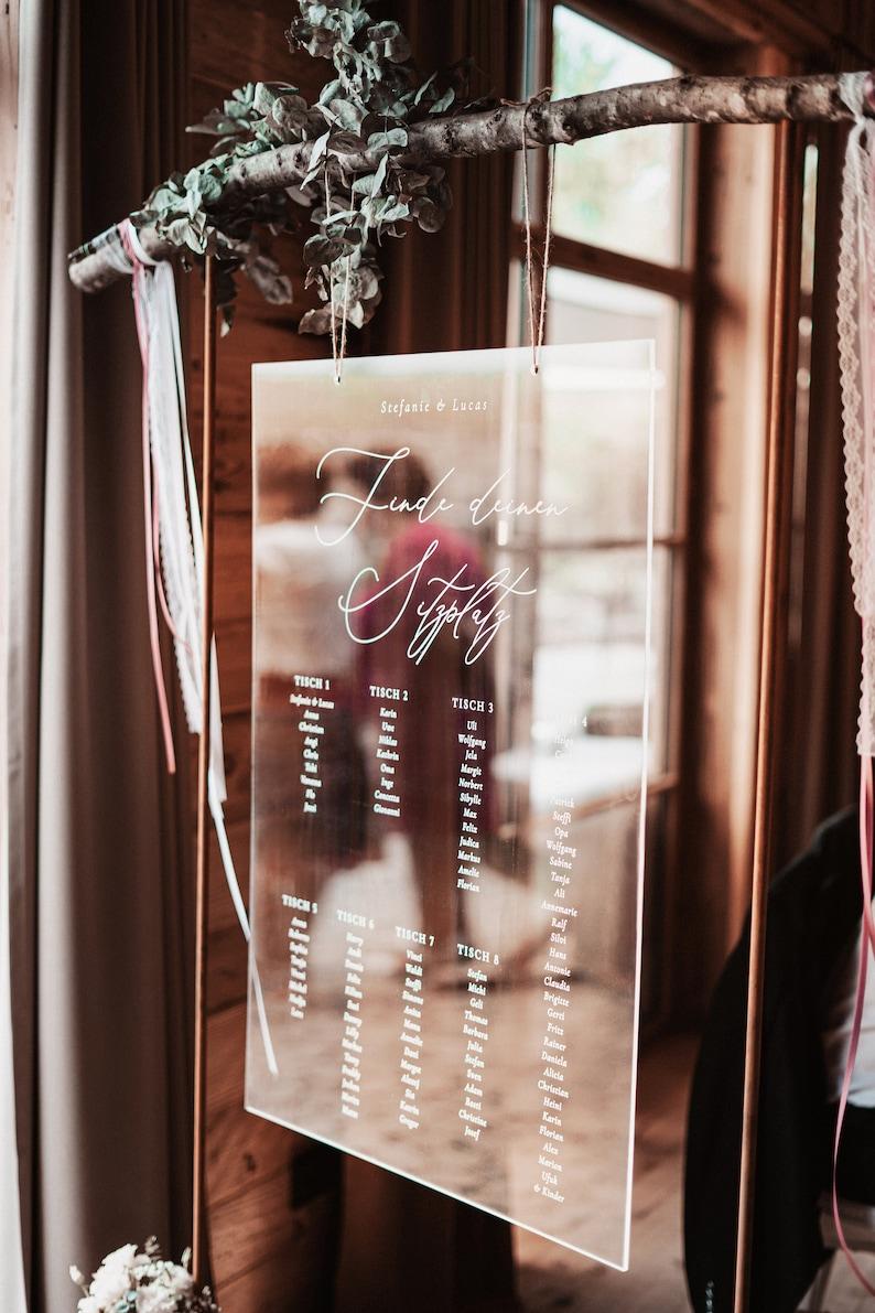 Acryl Sitzplan Hochzeit