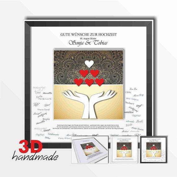 Bilderrahmen Hochzeit Gastebuch Hande Herzen Etsy