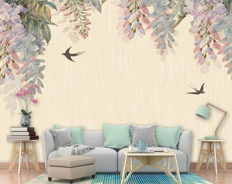 Wisteria Wallpaper Etsy