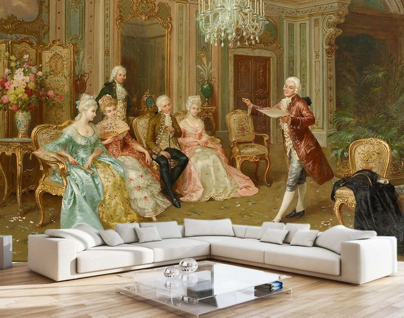 art wallpaper renaissance wall mural european palace wall etsyimage 0