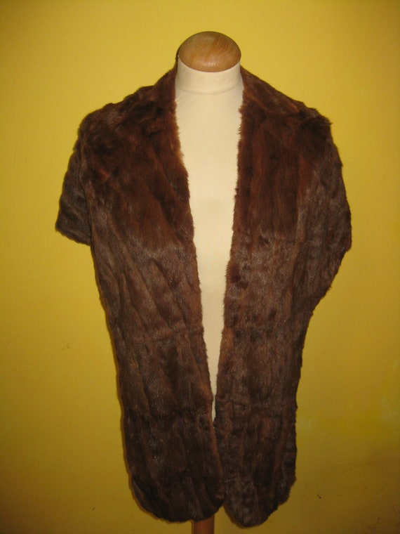 Vintage Women's Real Squirrel Natural Fur Bolero S