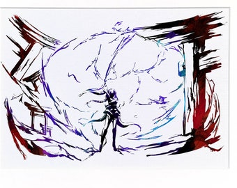 Fanart Print - Baal Raiden Shogun Genshin Impact Print