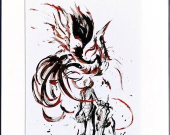 Fanart Print - Diluc Phoenix Genshin Impact Print