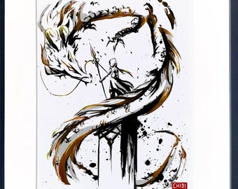 Fanart Print - Zhongli Rex Lapis Genshin Impact Print