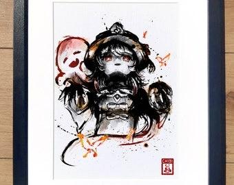 Fanart Print - Hu Tao Extra Spooky Ver. Genshin Impact Print